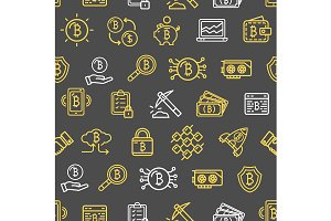 Bitcoin Currency Pattern Background