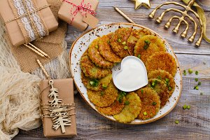 Traditional Hanukkah dish latkes