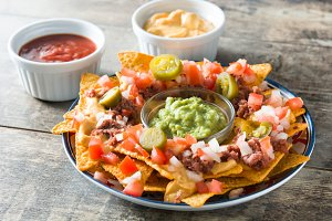 Mexican nachos with beef
