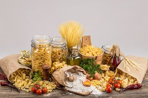 Collection of pasta
