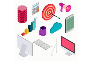 Business isometric elements