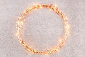 Circle of glowing garland