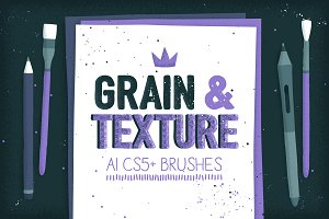 AI grain & texture brushes