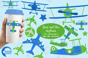 Airplane clipart, graphics AMB-2270