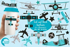 Airplane, plane, clipart, AMb-2268