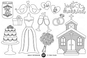 Wedding Digital Stamps