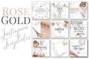 Rose Gold Instagram Templates