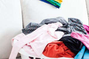 Colorful clean clothes