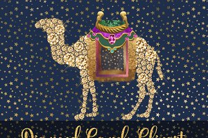 Diamond Camels Clipart
