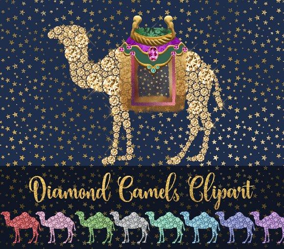 Diamond Camels Clipart