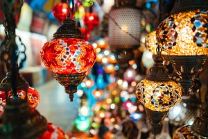 Beautiful turkish mosaic lamps