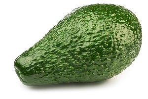 Green avocado isolated