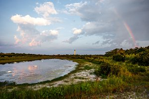 Rainbow Pond with Lighthouse