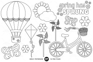 Spring Digital Stamps