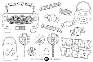 Trunk or Treat Digital Stamps