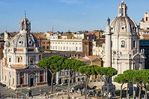 Trajan Forum Churches: Rome, Italy
