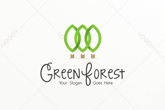 green forest logo logo templates creative market