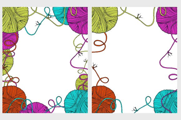 Yarn balls cover mock up in Illustrations - product preview 4