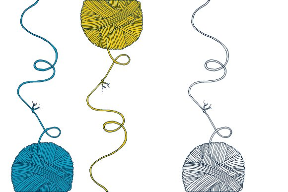 Yarn balls cover mock up in Illustrations - product preview 5