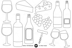 Wine Tasting Digital Stamps