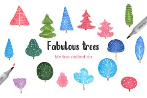 Fabulous Trees Marker Collection