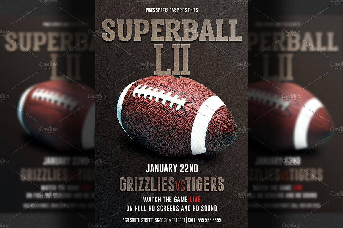 Super Bowl Flyer Template Zrom