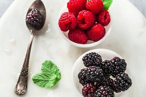 fresh summer berries raspberries and