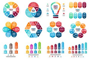 Set of 12 infographic templates