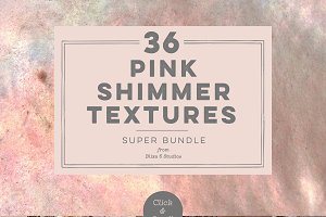 36 Pink Shimmer Textures