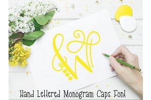 Monogram Font Hand Lettered