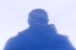 Photographer's shadow silhouette
