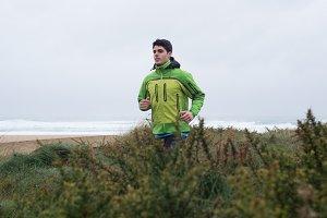 Caucasian runner man