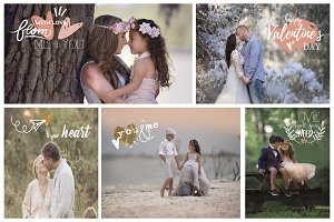 Photography Valentine's Overlays