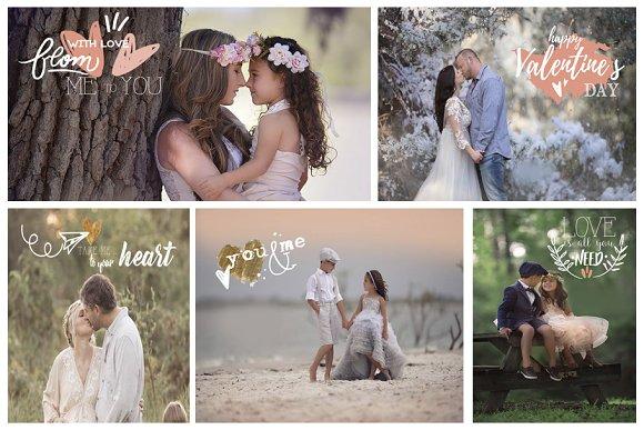 Photography Valentine's Overlays