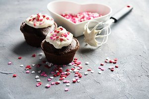 Chocolate Muffins for St. Valentines