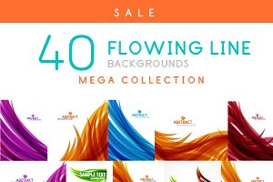 Flowing line background collection