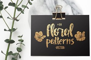 Floral vector patterns - Boho