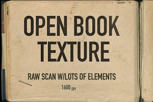 Raw Open Book Scan Texture