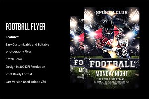 FOOT BALL Game XLIX Flyer Template
