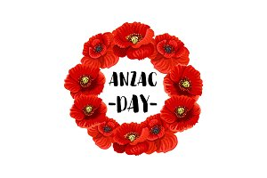 Anzac day poppy flower for poster or card design illustrations anzac day memorial wreath icon mightylinksfo