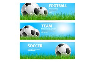 Vector football cup poster for soccer sport team