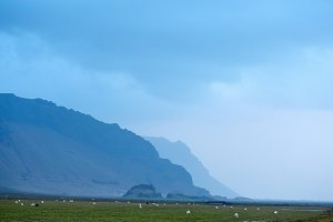 Mountain Icelandic landscape