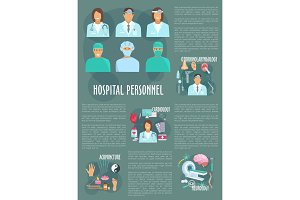 Medical doctors hospital healthcare vector poster