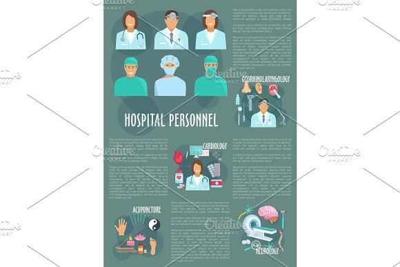 Medical doctors hospital healthcare vector poster