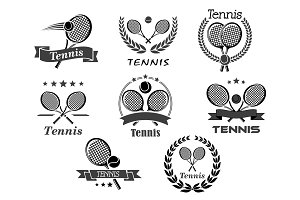 Vector icons for tennis sport club