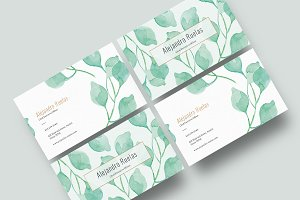 Watercolor Botanical Business Card