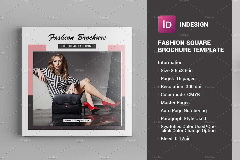 square fashion brochure v779 brochure templates creative market