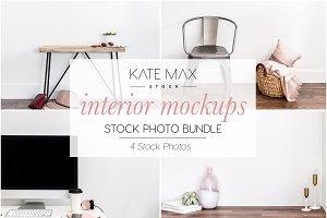 Interior Mockups Stock Photo Bundle