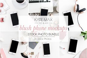 Blush Phone Mockups Stock Bundle
