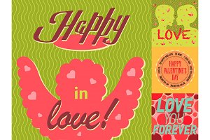 Valentine day vector cards design template vintage lovers lettering background abstract beautiful shiny frame layout invitation